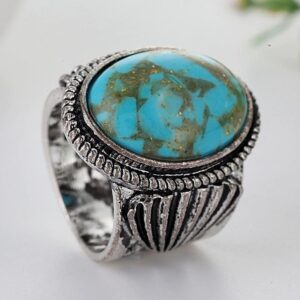 Bague ethnique turquoise Zhangmu