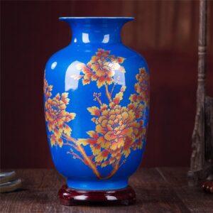 Vase ethnique Anhui bleu chic