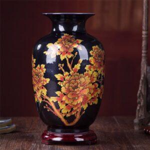 Vase ethnique Anhui noir chic