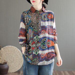 Chemise femme motif ethnique