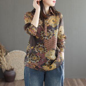 chemise imprimé ethnique femme