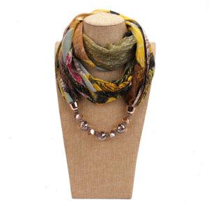 Foulard ethnique pendentif automne bohem