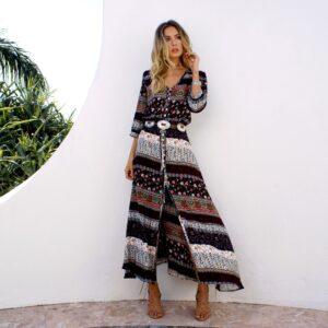 longue robe ethnique