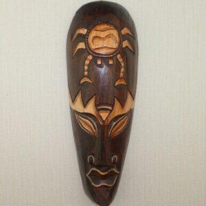 Masque ethnique bois massifBoké chic
