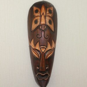 Masque ethnique bois massifKribi