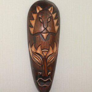 Masque ethnique bois massifThiès boheme