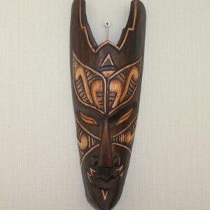 Masque ethnique bois massifKamsar boheme