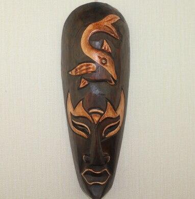 Masque ethnique bois massifKouroussa chic