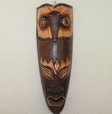 Masque ethnique bois massifKano chic
