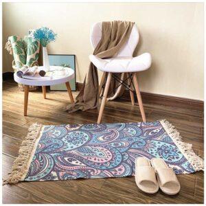 tapis ethnique coloré