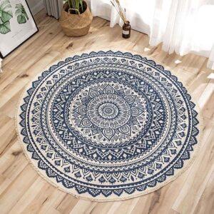 tapis ethnique bleu