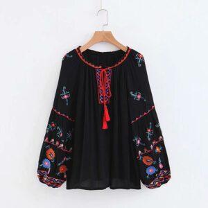blouse ethnique brodée