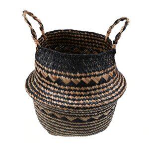Panier ethnique rotin art boheme