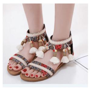 Sandale ethnique bohème