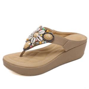 Sandale ethnique cuir