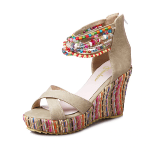 Sandale ethnique talon