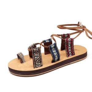 sandale ethnique gladiatrice chic