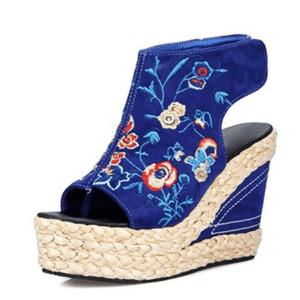 Sandale ethnique compensée chic