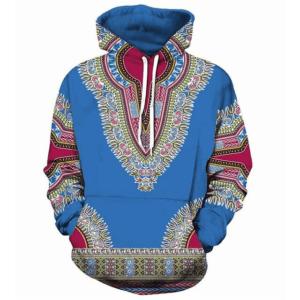 Pull ethniquemandala bleu boheme