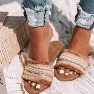 Sandale ethnique délicatesse boho