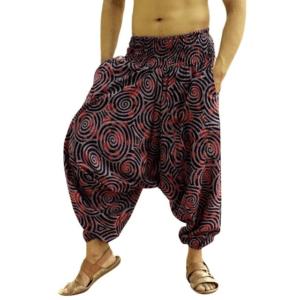 Pantalon ethnique ample violet boho