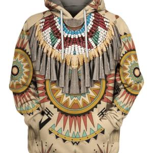 Pull ethniqueamérindien Abénaqui boho